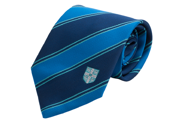 Tie Double Stripe Blue