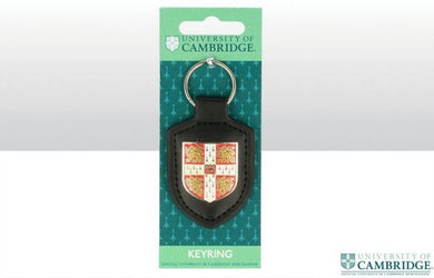 CU Leather Fob Shield Keyring