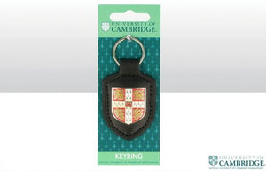 Cambridge University Leather Fob Shield Keyring