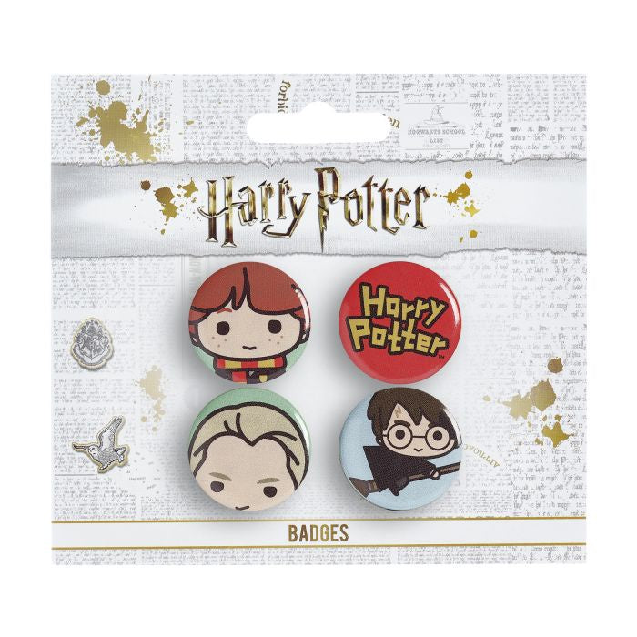 Pin Badges - Ron/Draco/Harry Broom