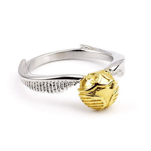 Stainless Steel Golden Snitch Ring