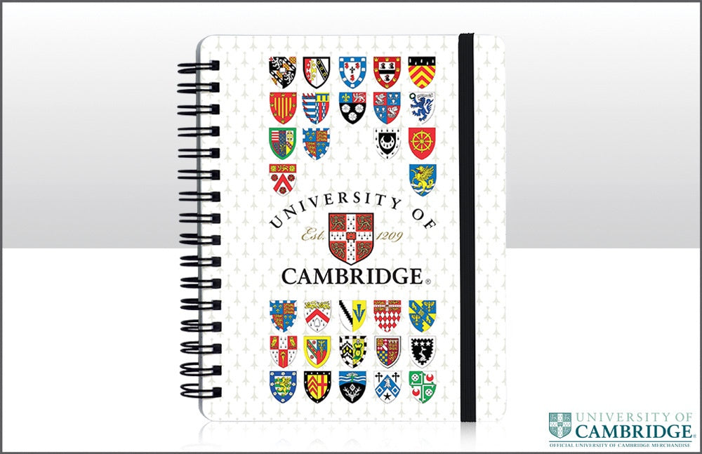 Cambridge University Shields Spiral Bound Notepad