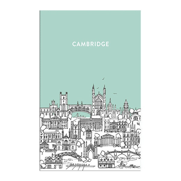Sketch Cambridge Tea Towel