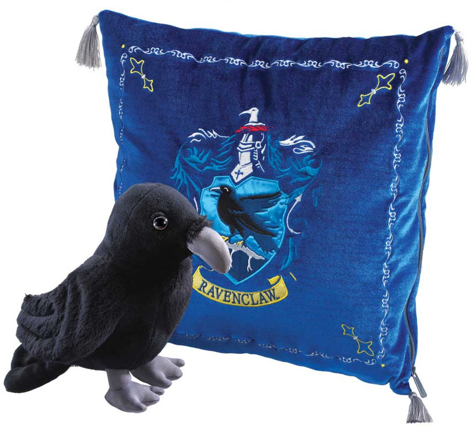 Plush Ravenclaw Cushion with House Mascot