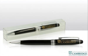 CU Ballpoint Pen in Clear Case - Black