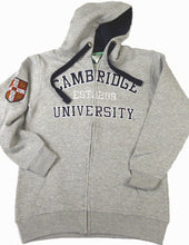 Load image into Gallery viewer, Cambridge University Zipped Hoodie Heather Grey