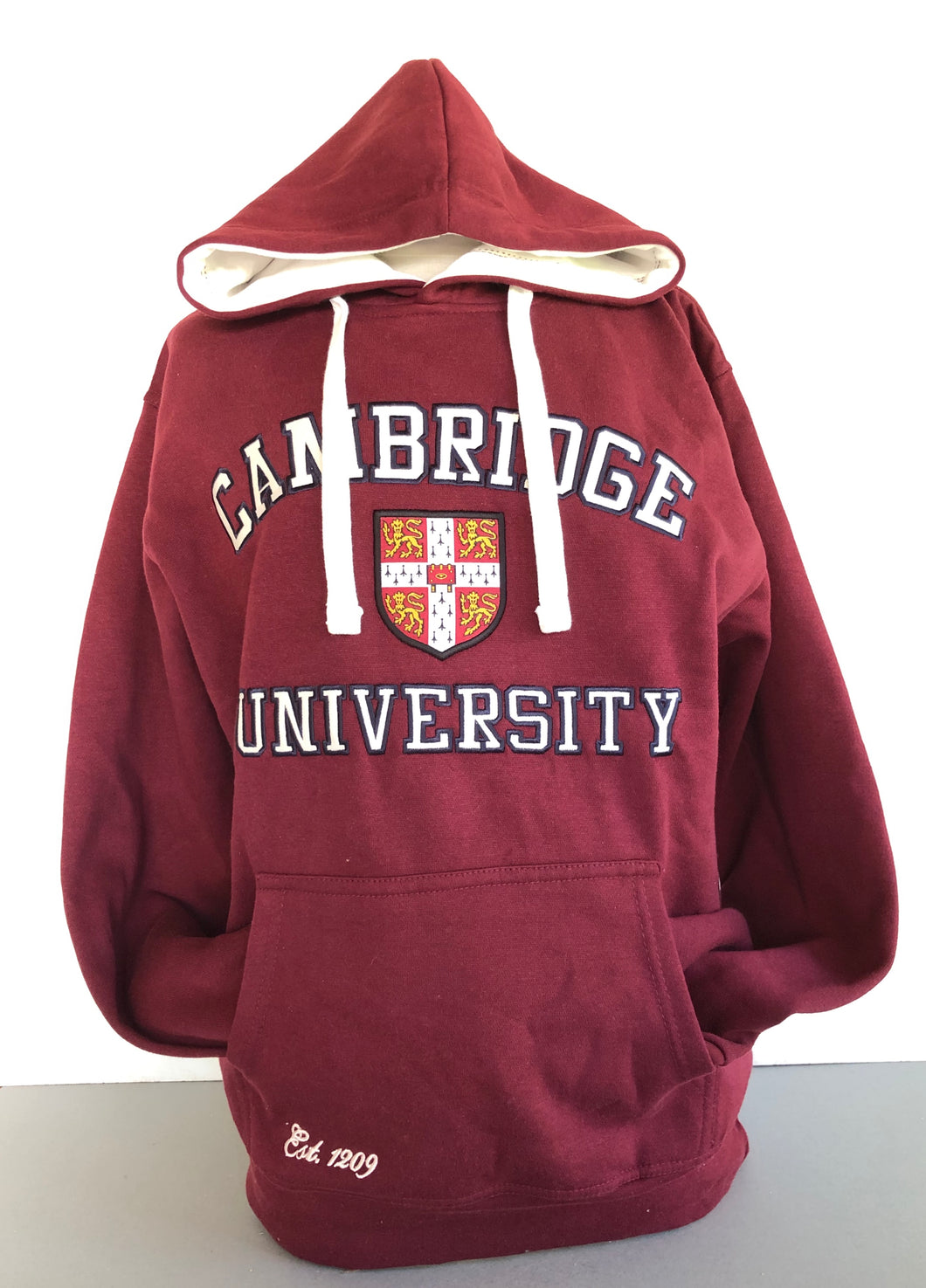 Cambridge University Hoodie Maroon
