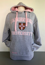 Load image into Gallery viewer, Cambridge University Hoodie Heather Grey with Pink