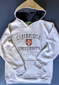 Cambridge University Kids Hoodie Grey