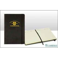 CU Gold Shield Black A6 Notebook