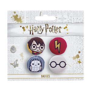 Pin Badges - Harry/Hedwig