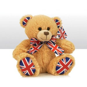 Soft Bear with Union Jack Ribbon, Large