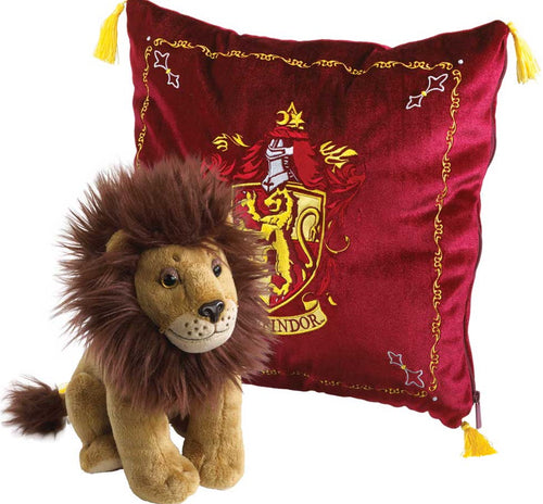 Plush Gryffindor Cushion with House Mascot