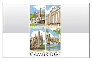 Contemporary Cambridge Tea Towel
