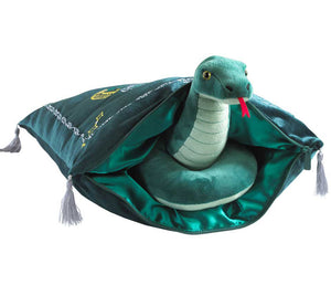 Plush Slytherin Cushion with House Mascot