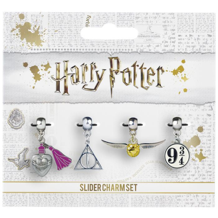 Charm Bead Set - Snitch/Deathly Hallows/Potion/Platform
