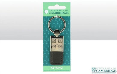 CU Metal & Leather Tab Shield Keyring
