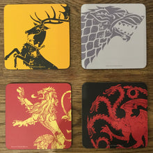 Load image into Gallery viewer, GoT Coasters Set of 4