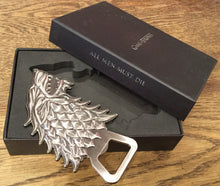 Load image into Gallery viewer, House of Stark Fridge Magnet Bottle Opener