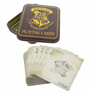 Hogwarts Playing Cards in Tin