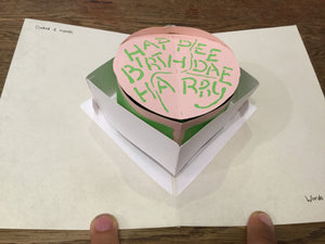 Pop Up Card Hagrids Cake