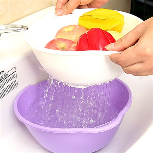3 Sets Multi-purpose Drain Basket-Kitchen & Dining-skrstar.com-Purple-