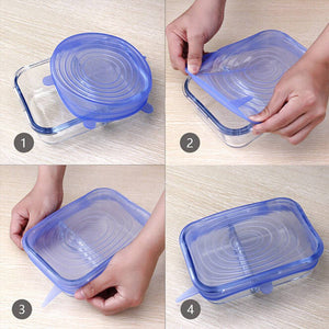 Silicone Stretch Flexible Insta Lids (6 Pcs/Set)