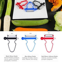 Load image into Gallery viewer, 3pcs Kitchen Tools Magic Trio Peelers Set Shredder, Slicer, Peeler Julienne Cutter