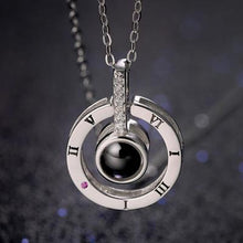 "Load image into Gallery viewer, 100 Language""I LOVE YOU"" Necklace"