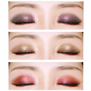 Shimmer Eyeshadow Palette 20 Color Glitter Smoky Eyeshadow Long-Lasting Eye Makeup Set