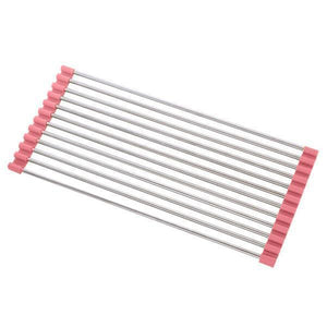 Roll-Up Drying Rack-Kitchen & Dining-skrstar.com-Pink-