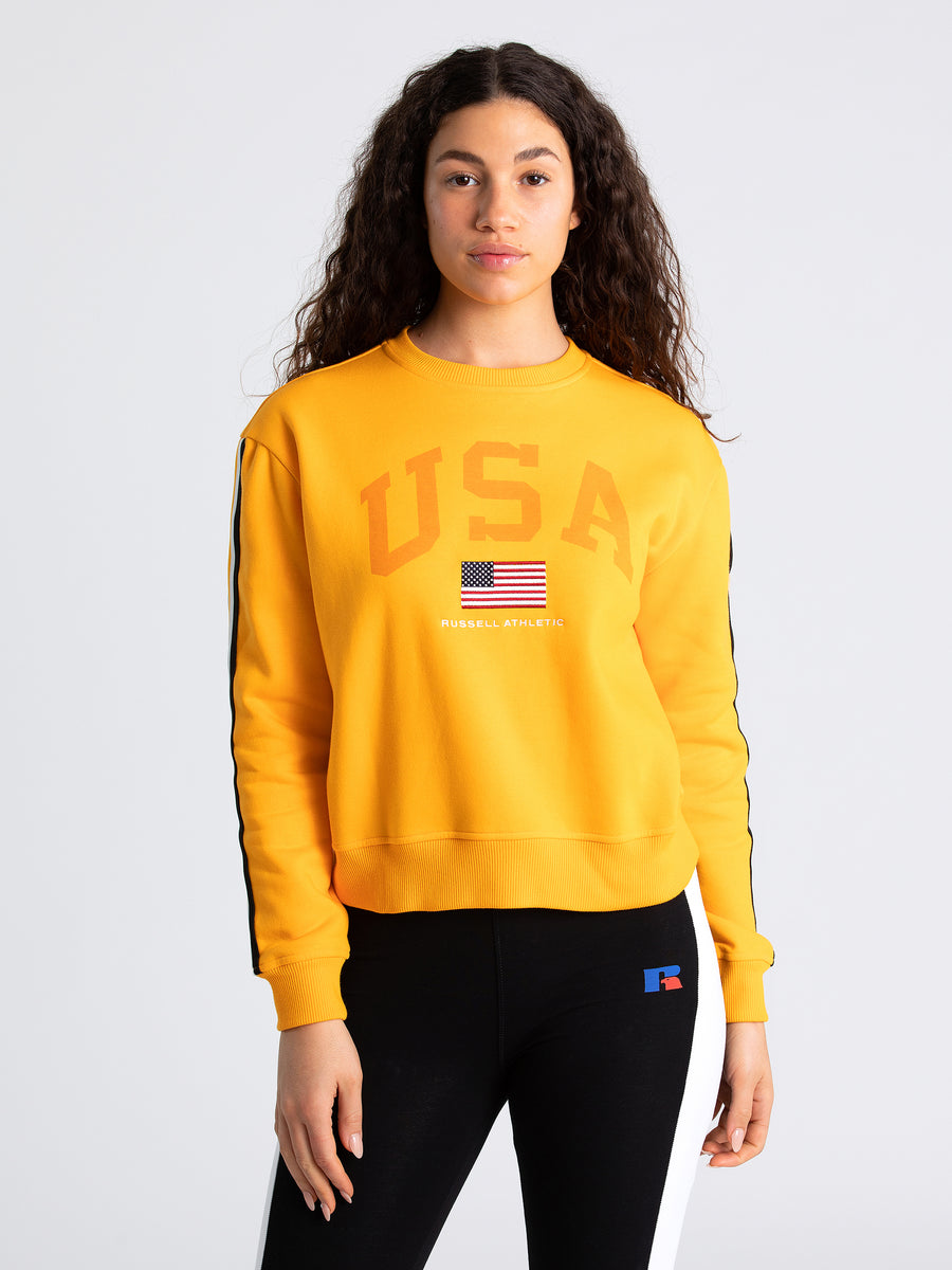 USA Taped Sleeve Crew