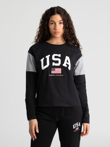 USA Long Sleeve Tee