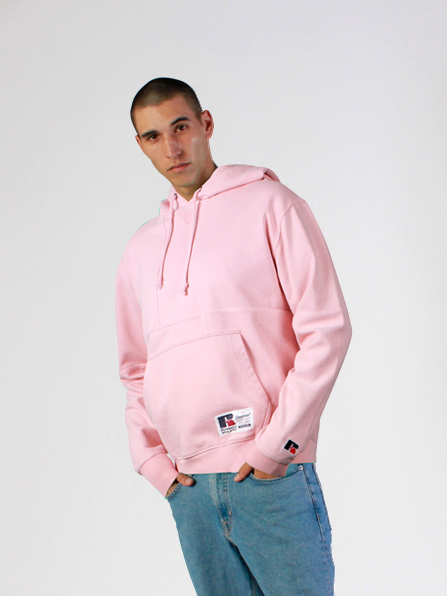 Men's Solid Block Hooded Sweat