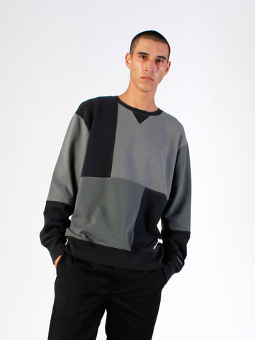 Men's Colour Block Crew Sweat