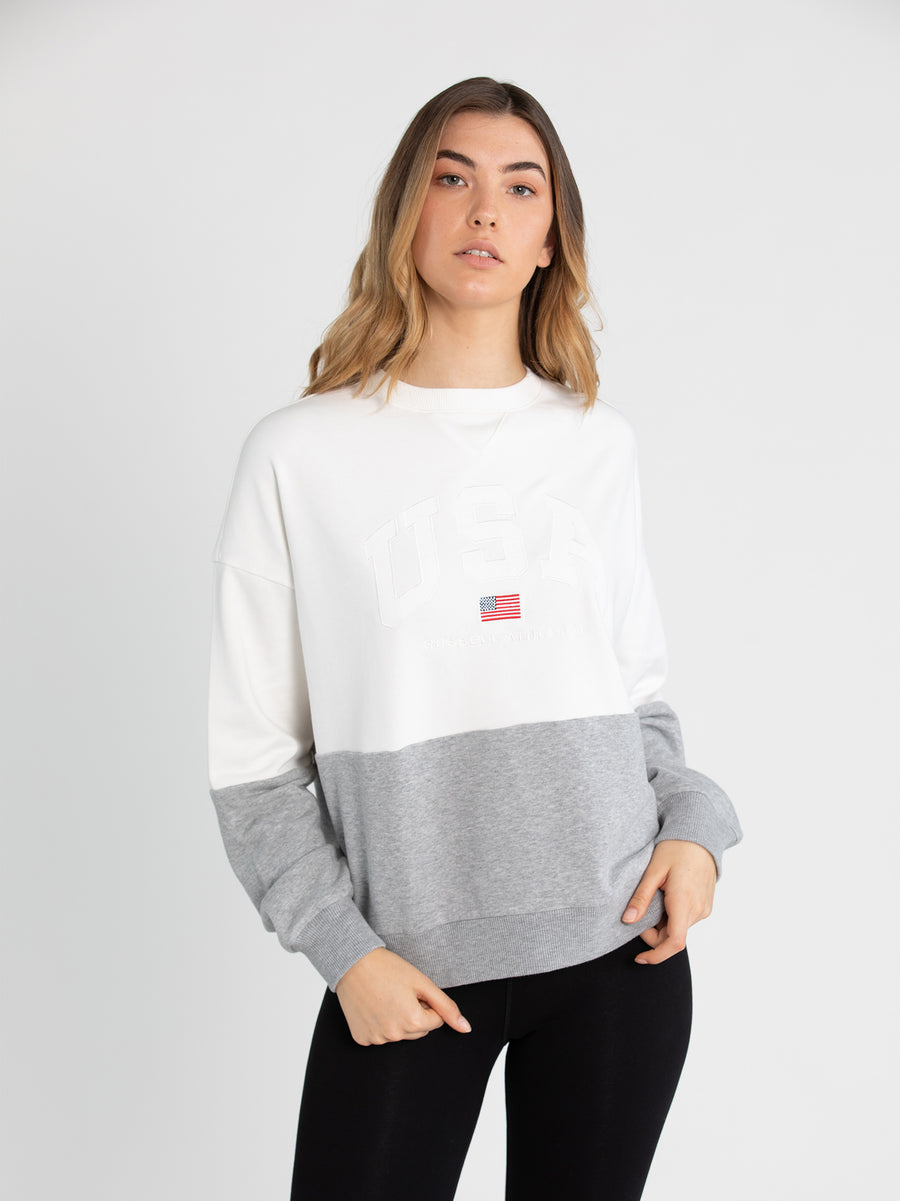 USA Colour Blocked Sweat