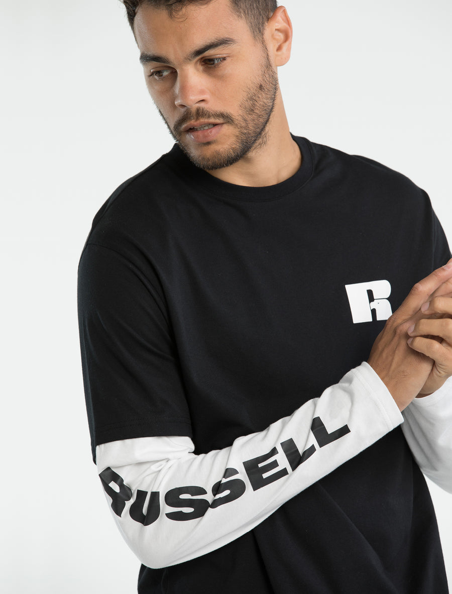 Long Sleeve Contrast T-Shirt (3137831436388)