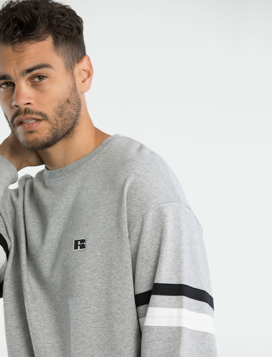 Iconic Stripe Sleeve Crew (3137832714340)