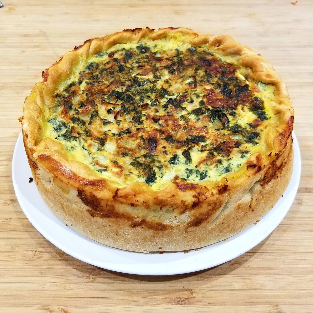Spinach & Swiss Quiche