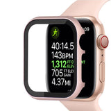Spartan Stainless Steel Apple Watch SE Series 6 Case Fortified Tempered Glass Screen Protector