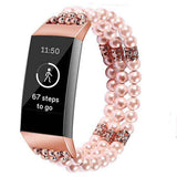 Fitbit Charge 3 & 4 Pristine Pearl Beads Bracelet Band