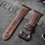 Custom Hand Stitched Genuine Leather Apple Watch Band
