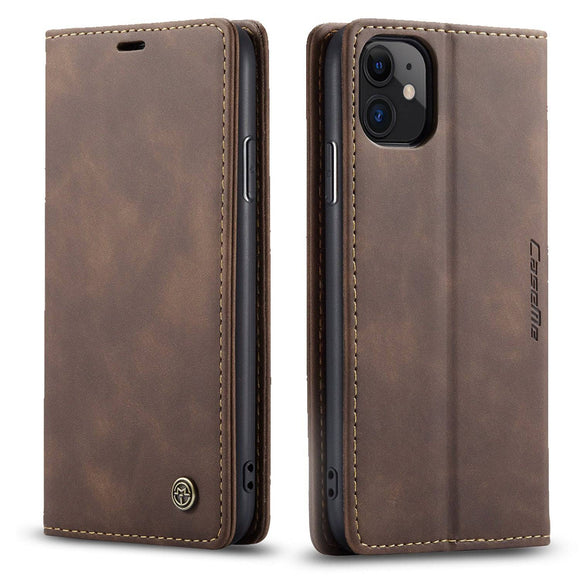 Apple iPhone 11/11 Pro/11 Pro Max Genuine Leather Premium Wallet Phone Case