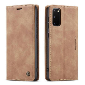 Genuine Leather Premium Wallet Phone Case For Samsung Galaxy Phone S20 S20 Plus S20 Ultra S10 S10 Plus