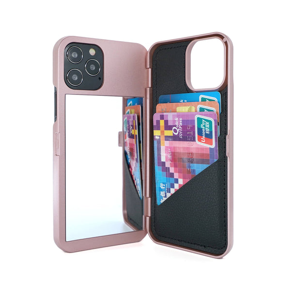 Apple iPhone 7/8/9/X/11/12 /12 Mini/ Pro/Pro Premium Custom Wallet Mirror Case