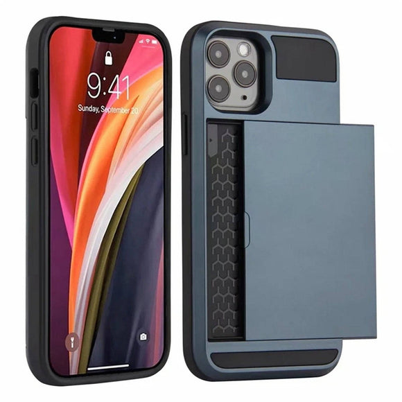 Apple iPhone 12 /12 Mini/ Pro/Pro Max Shockproof Armor Wallet Case