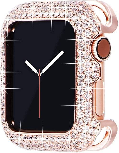 18 Karat Rose Gold Plated Diamond Apple Watch Series 1/2/3/4/5/6 Case