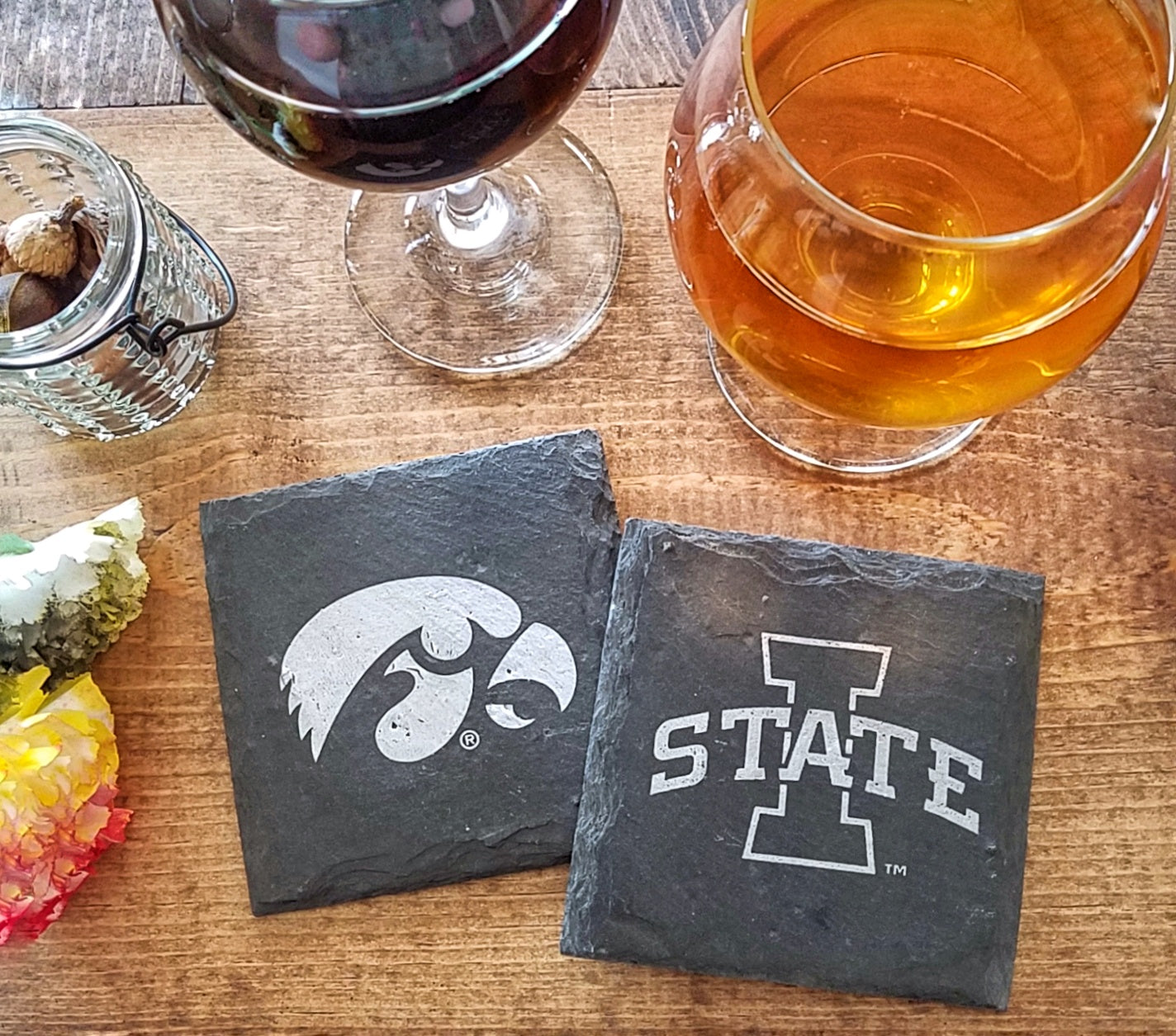 Iowa Hawkeye Slate Coaster
