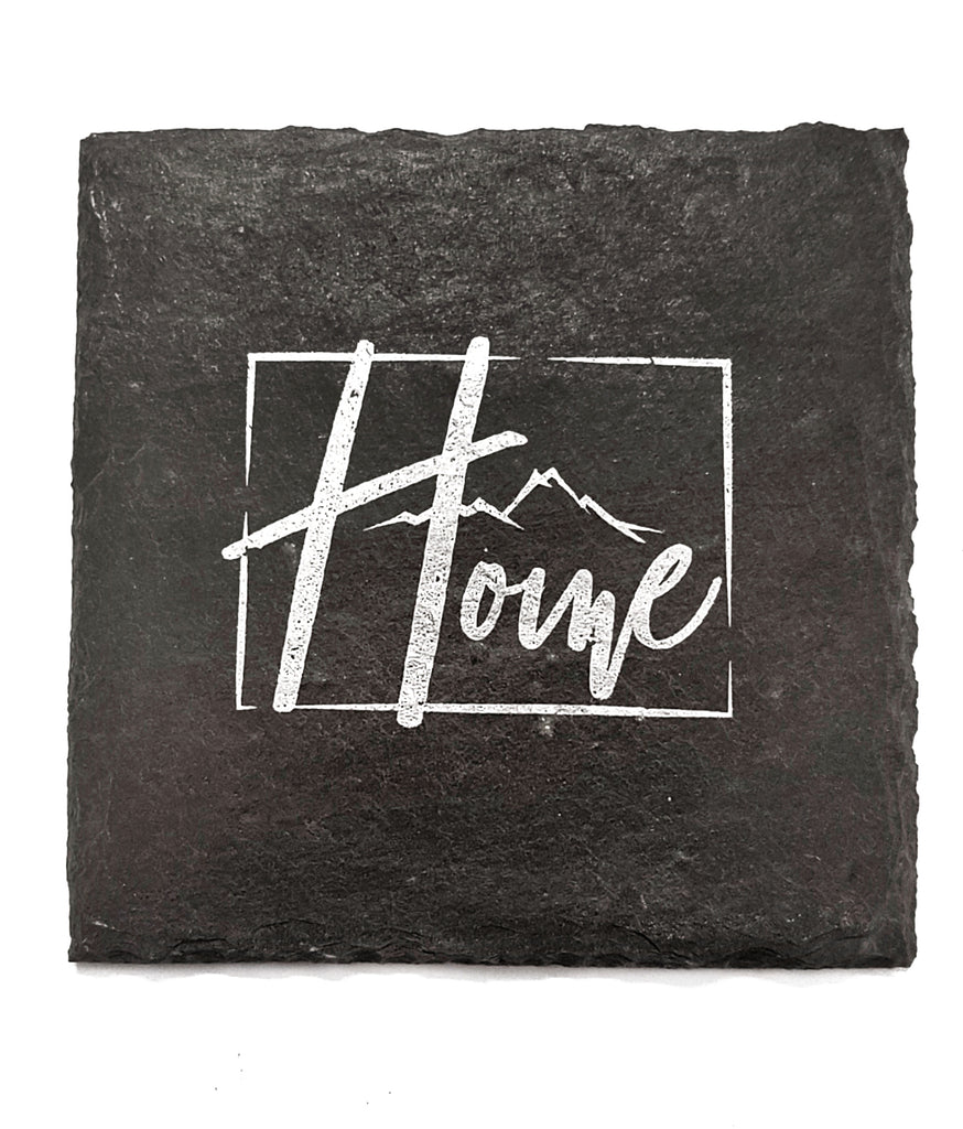 Colorado Home Slate Coaster