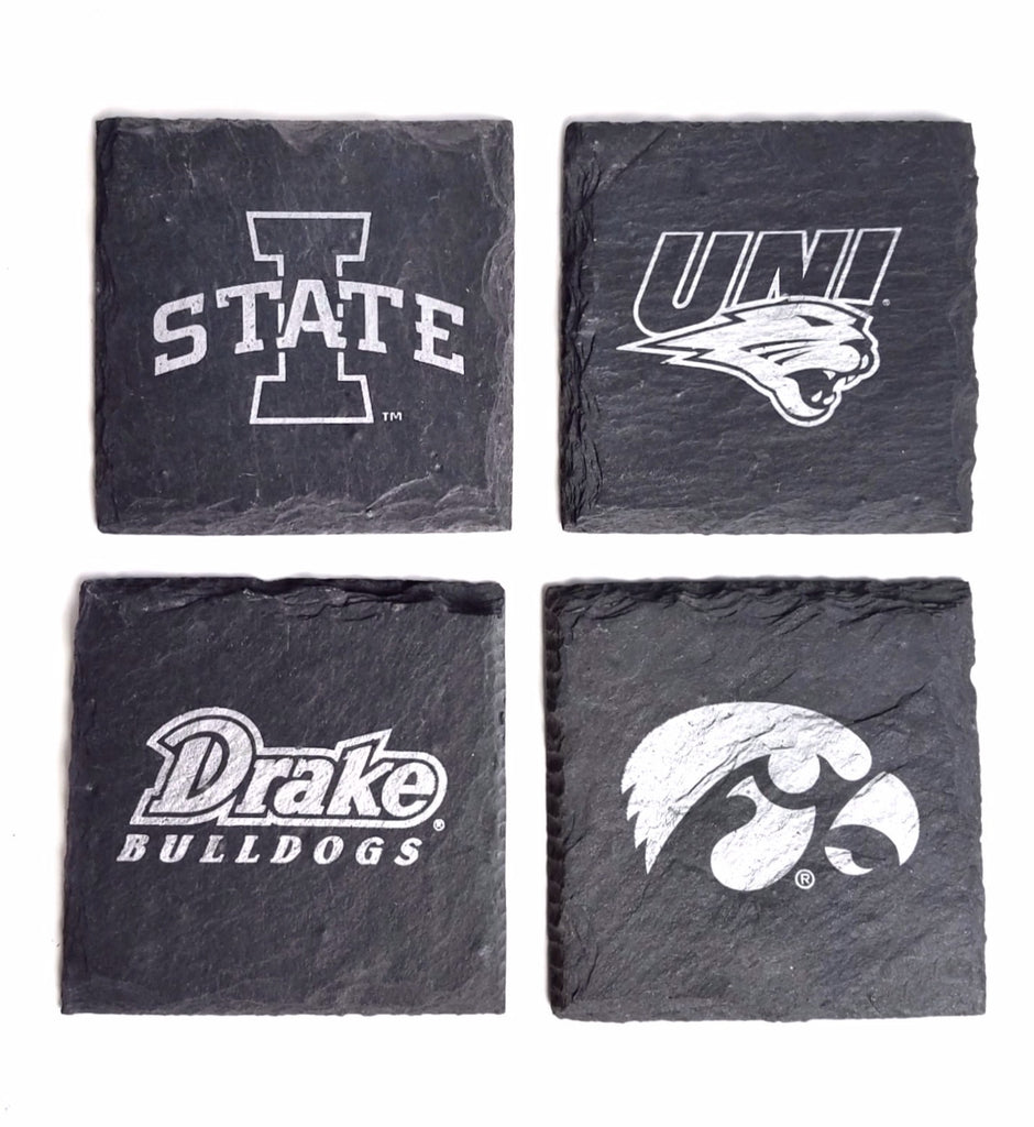 Build your own Iowa Team Gift Set with Collegiate Coasters & Holder